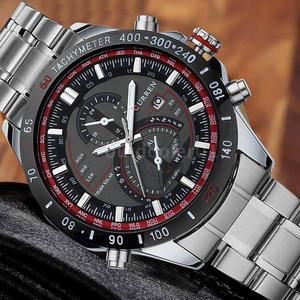CURREN  Men Wristwatch Fashion Stainless Steel Analog