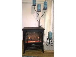 Electric Fire Free Standing Micro Stove in Black. Made by