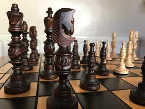Exquisite Handmade Wooden Artisan Chess Set