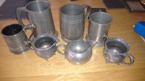 For sale a collection of pewter