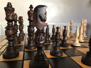 Handmade Artisan Chess Set from the Polish Tatra Highlands