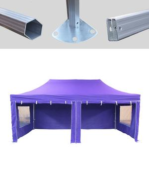 MCD Pro Tent™ Hex 50mm Purple Industrial Gazebo 3m x 6m