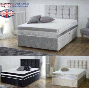 New complete crushed divan bed in all sizes