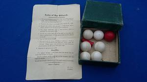 Original Vintage 's Bar Billiards Set & Box