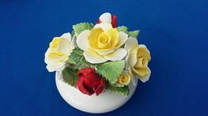 Royal Doulton England Bone China Hand Painted Posy Bowl