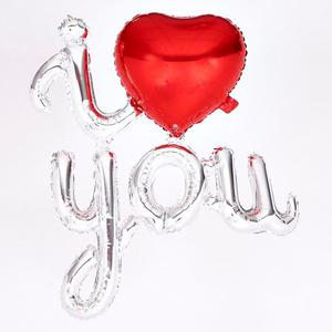 ❤️VALENTINES I LOVE YOU FOIL HELIUM BALLOON HEART RED SILVER NEW❤️ (hackney) bulk buys available
