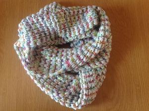 Wooden multi coloured snood