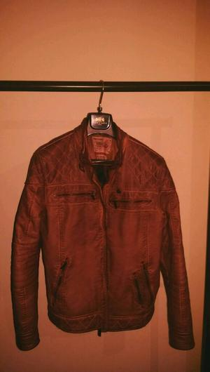 size Earth Brown Leather Jacket