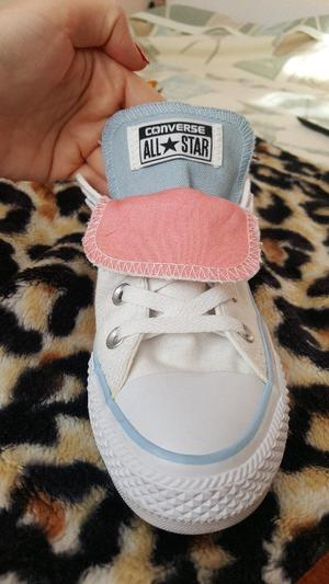 Converse white double tongue trainers for Sale UK size 4