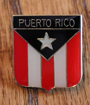 New Puerto Rican Rico Flag Shield Red Lapel Hat Pin Tie Tack
