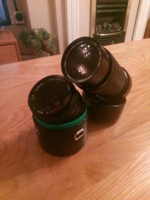 Ozeck camera lenses canon FD mount