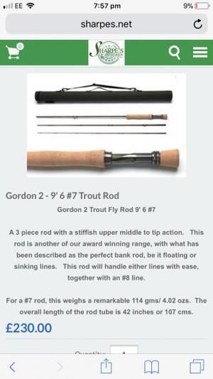 Sharpes of Aberdeen fly rod