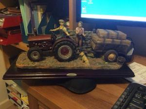 The Juliana Collection - 2 Farmers, Tractor & Trailer