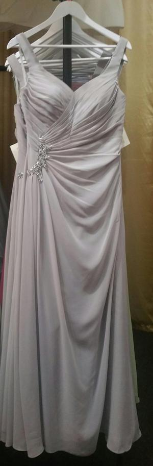 Brand new with tags silver grey bridesmaids/prom dresses.
