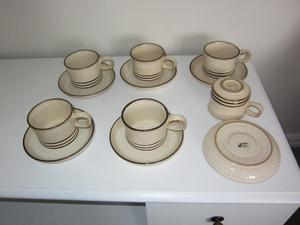 DENBY SAHARA CUPS AND SAUCERS