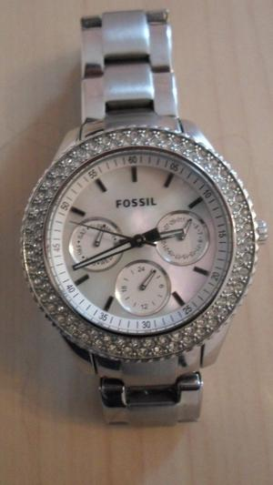 Fossil ES Stella Multifunction Stainless Steel Ladies Watch with pearl face and crystals