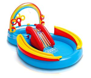 INTEX Inflatable Kid Rainbow Ring Water Play Center