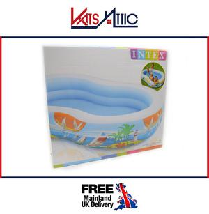 "Inflatable Summer Swimming Paddling Pool Family Kids 103"" x"