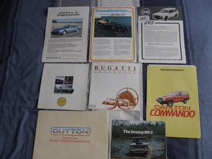 Kit car brochures