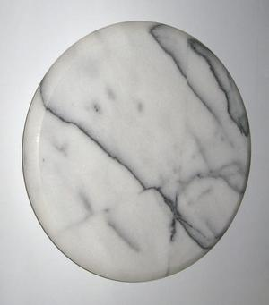 LAZY SUSAN SOLID MARBLE, WHITE AND BLACK BRAND NEW BOXED