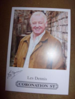 Les Dennis Coronation Street Signed Photo NEW Family Fortune
