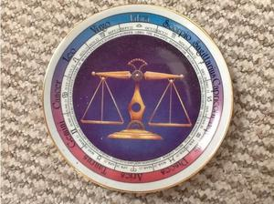 Libra astrology porcelain china plate in Ipswich