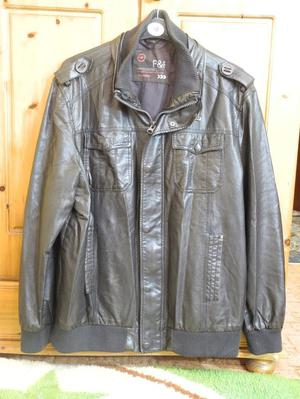 New Mens Leather Jacket Size XXL