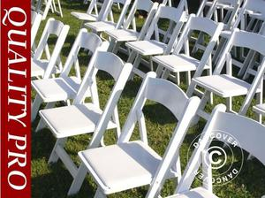 Padded Folding Chairs white 44x46x77 cm, 24 pcs. in City of
