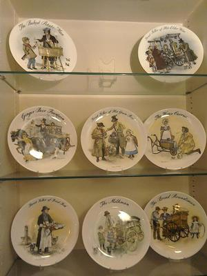 Plates, set of 8, Street Sellers of London, Wedgwood, All