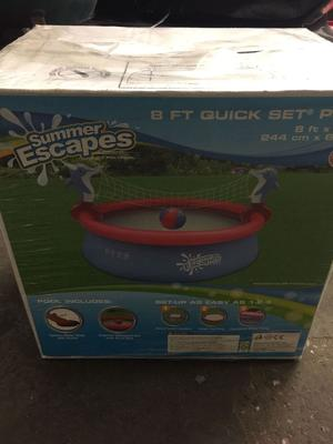 SUMMER ESCAPES QUICK SET ROUND INFLATABLE POOL 8FT X 26""
