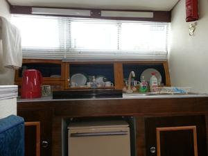 Six berth Sea master motor cruiser. Raven. . Aft, fore and mid cabins.