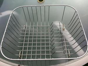 Stainless steel dish/cutlery drainer