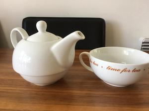 Teapot and matching cup