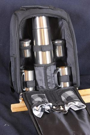 Thermos flask tea set back pack
