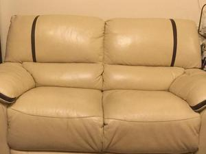 Two 2seater sofas, arm chair and storage pouffe