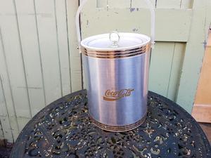 VINTAGE 60s USA ORIGINAL COCA COLA ICE BUCKET GIN BAR PROP
