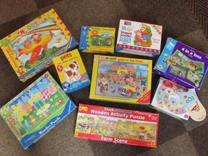 Various kids jigsaw puzzles