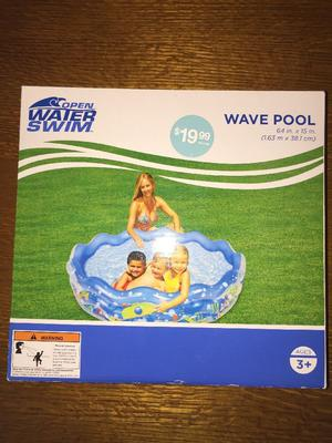 "Wave Pool Water Swim 64"" X 15"" for Kids Family Children"