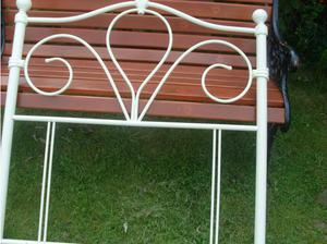 White metal 3 ft headboard in Great Yarmouth