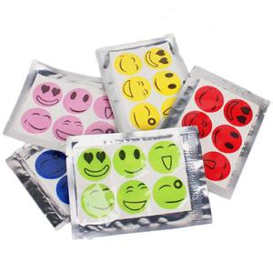 10Pack Smiley Face Stickers Mosquito Bug Repellent Patches