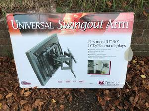 "Brand New Universal Swingout Arm - TV Wall Mount Fits most "" LCD and Plasmas Swivel & Tilt"