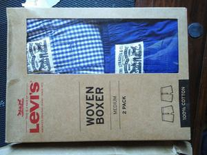 Brand new with tags - Men's size medium, woven 100% cotton Levi's boxer shorts