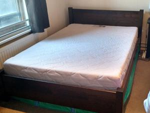 Double Bed Frame and Mattress - sold separate or together