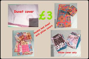 Double bed sheets with pillow covers
