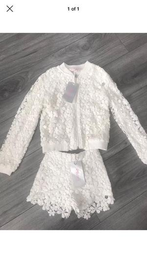 Girls gaudi short suit brand new age 7