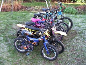 Kids/Childs Bike Job Lot Of  Wheel Most In Good Condition