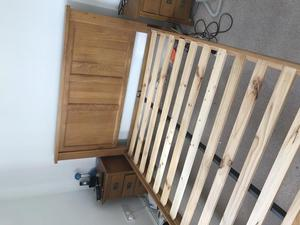 Oak double bed frame for sale