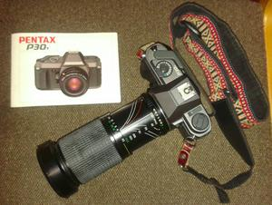 Pentax Manual SLR Camera, mm lens, Flash Unit and Carry Case