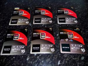 Sony 16GB Class MB/second SDHC Memory Cards