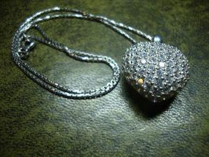 10. Stirling Silver Gem set Heart